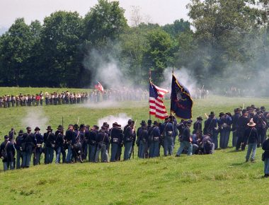 Reenactment of the Battle of Mill Springs