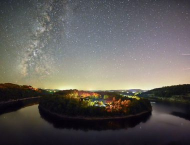 Nighttime sky in Burnside, Kentucky and Lake Cumberland